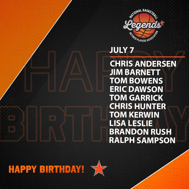 Wishing a HAPPY BIRTHDAY to these @NBAand @WNBA Legends and @Hoophall Inductees @LisaLeslie and @RalphSampson50 🎉  #LegendsofBasketball #NBABDAY #WNBABDAY https://t.co/e7LDnfrbM4