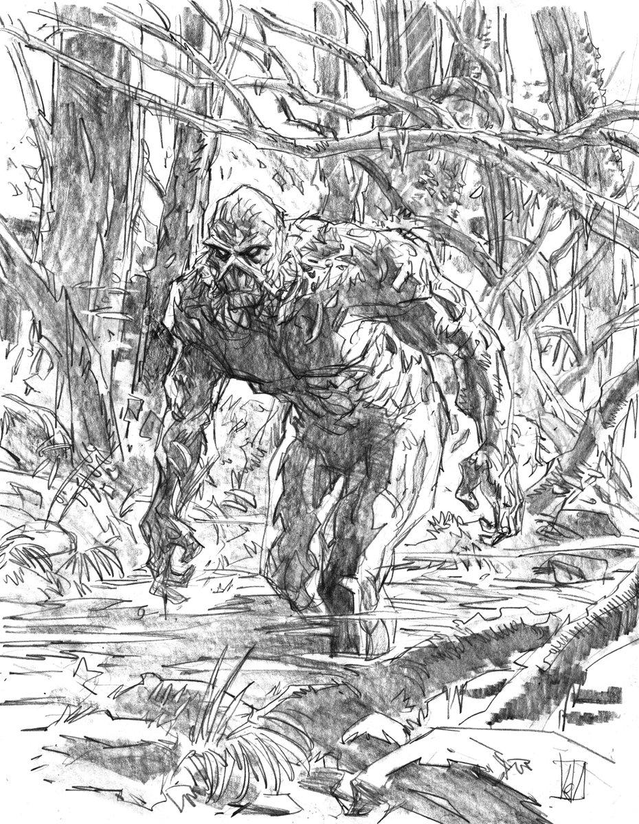 Swamp Thing sketch WIP