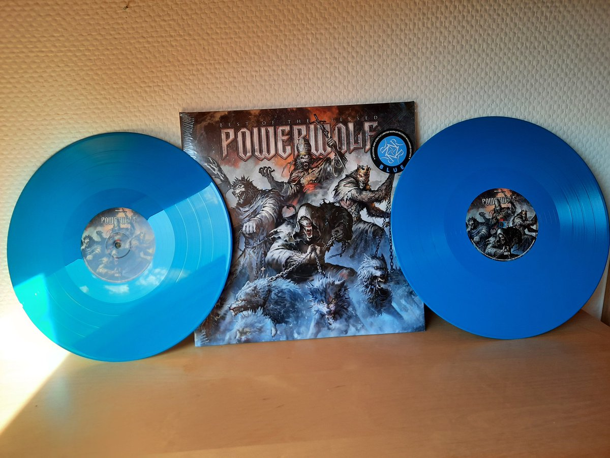 New arrival! Best of the Blessed - Powerwolf - Blue Vinyl (Limited to 200 copies)  #music #Powerwolf #Metal #vinyl #vinylrecords #VinylCollector #vinylcollection #vinylcommunity #records @powerwolfband https://t.co/ZbZLm5CjlQ