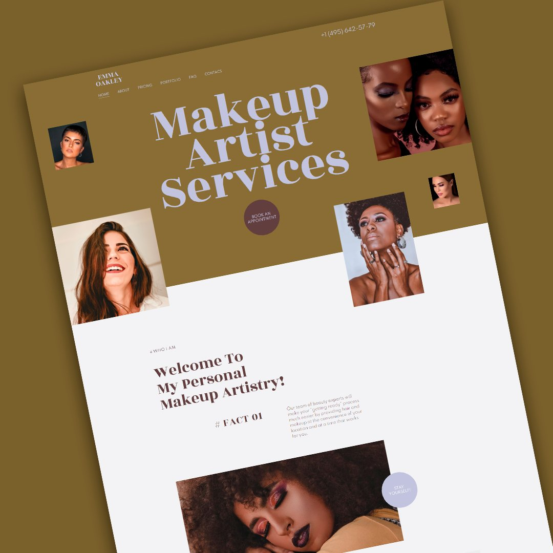 😍Turn more women into the princes using our #makeup artist #WordPress theme for promotion - https://t.co/EnlVs4cCZ0 https://t.co/6xCJnFfLlC