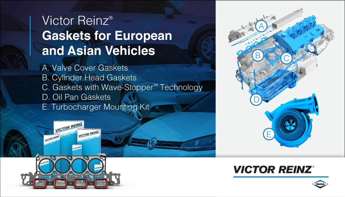 Victor Reinz® gaskets are OE on many European and Asian vehicles, and our broad line of sealing solutions is engineered by experts to help you build your business: https://bit.ly/3gz1flj  | #VictorReinz #DanaAftermarketpic.twitter.com/mOoeQrVaao