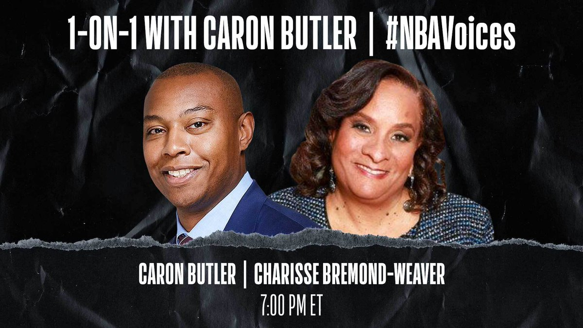 Tune in tonight at 7:00 PM ET on @NBA as Caron Butler (@realtuffjuice) sits down 1-on-1 with @BCrusade President and CEO Charisse Bremond-Weaver to discuss institutional racism, closing the racial wealth gap, and driving real change. #NBAVoices https://t.co/tqWE11xM5e