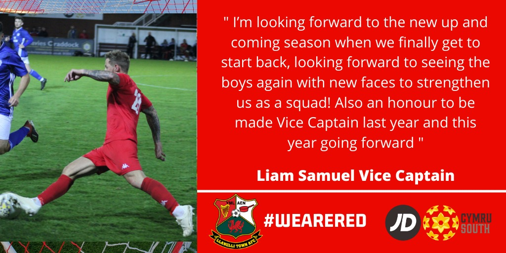 Say hello to our Vice Captain @liamsam93  More to add to our squad tomorrow at the usual time of 5pm #WeAreRed https://t.co/pm6IqLxMoU