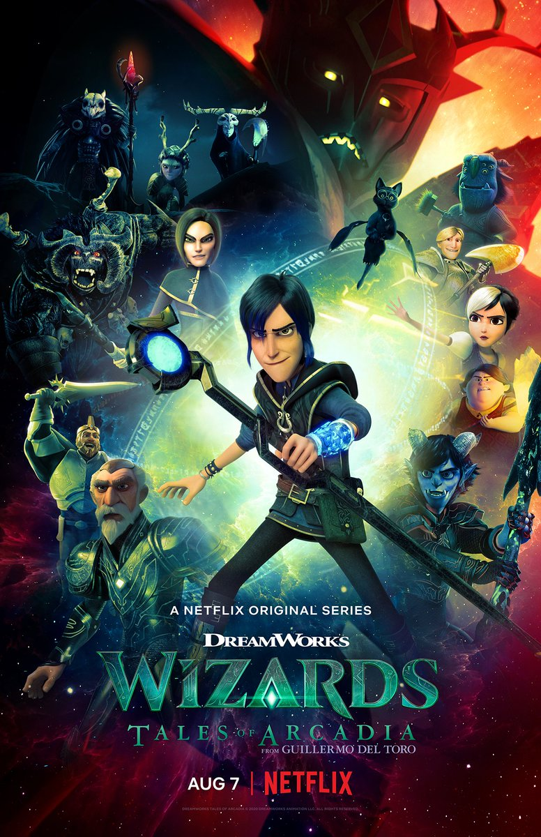 Wizards - the final chapter of @RealGDT's #TalesOfArcadia trilogy - will debut on @Netflix August 7th. #trollhunters #3below #wizards https://t.co/e4WwTvTQcF