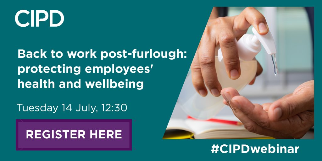 Join our upcoming webinar to hear from @CIPDpolicys @RSuff, Chartered Psychologist @dr_mackinnon, and Zoe Stephens, HR Director at Blatchford, as they provide advice on how to best support staff as they navigate the return to the workplace. #CIPDwebinar ow.ly/lbVt50ArV8p
