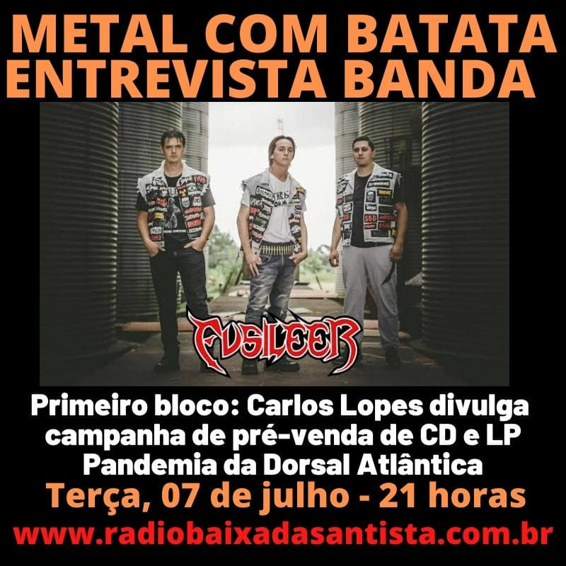 Todas Terças as 21h #Programa Metal com Batata Entrevista #Fusileer https://t.co/AkNv4OsnS4 https://t.co/3tM2Gf0hlh #heavymetal #rocknroll #deathmetal #blackmetal #music #trashmetal #powermetal #blackeneddeathmetal #rockmetal #staymetal https://t.co/GDVAwPo3LK