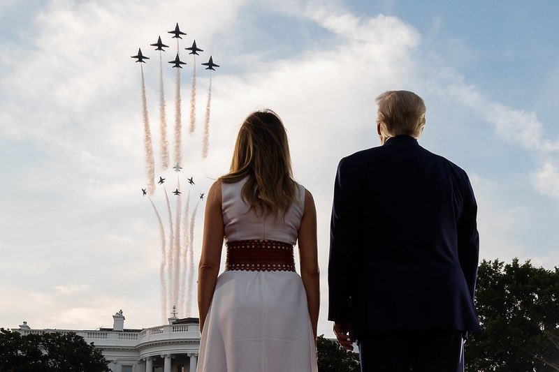 The President and First Lady celebrate 4th of July at The White House. America will always be your greatest ally 🇺🇸🇬🇧