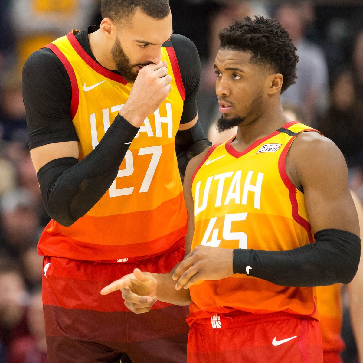 "Rudy Gobert has been frustrated with Donovan Mitchell's ball dominance at times, per ESPN  ""The fact that Mitchell has the ball in his hands the most has been the primary irritant in what is an overall successful partnership between he and Gobert.""  (h/t RealGM) https://t.co/DAJ5Kz5u68"