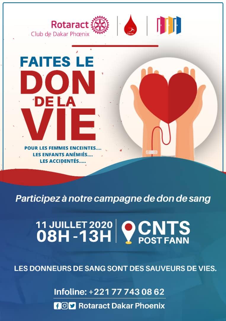 Hellooo #TL221 @RtcDakarPhoenix vous convie au don de sang qu'il organise le Samedi 11 Juillet au @CentreCnts.  📝 Vous pouvez vous inscrire ici : https://t.co/XLRoDpuhYz  ☎️ + d'infos : 77 743 08 62  #Kebetu #rtappréciés https://t.co/N81bjo383J https://t.co/2QRlgOgK2y
