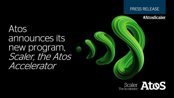 Elie Girard, Atos CEO, announces the launch ofScaler, the Atos Accelerator- anew startup a...