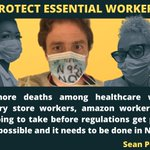 Image for the Tweet beginning: NO essential Worker is safe