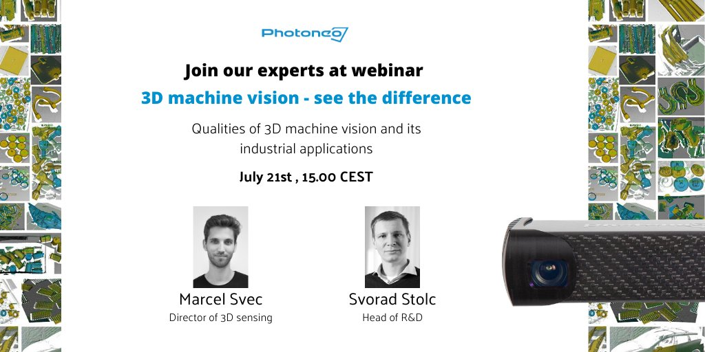 Learn about the main 3D sensing techniques and their different outputs.  Register for a free webinar here: https://bit.ly/3DMachineVision #photoneo #3dsensor #machinevision #automationsolutions pic.twitter.com/59bFszHweK