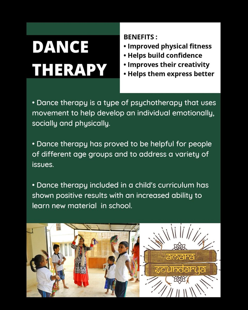 At Amara Soundarya,we focus on helping the children balance between fun and learning,while helping them grow to their highest potential!  #amarasoundaryafoundation #dancetherapy   #specialeducation #specialschool #intellectualdisabilities #dance  #learningdisabilities #NIOSpic.twitter.com/OwIgPHXgAx