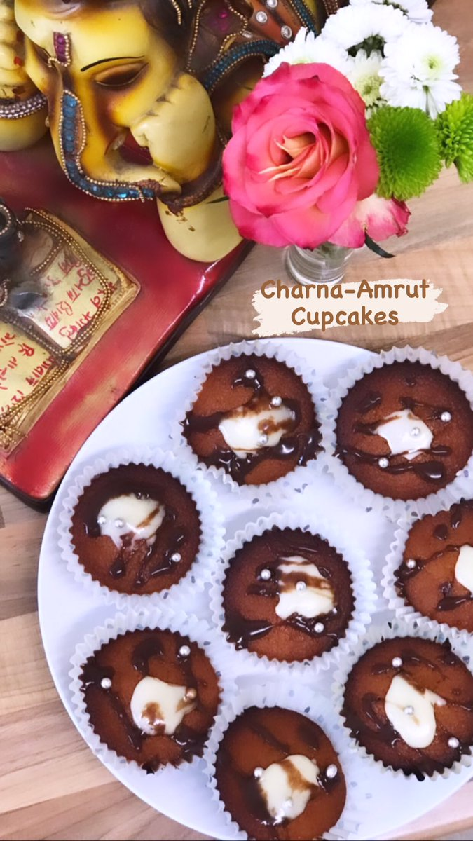 Who does'nt like a bit of chocolate 🍫☺️ #chocolate #charnamrut #panchamrut #happyworldchocolateday2020 #happiness #cupcakes #cupcakewithatwist #sanjeevkapoor #sweet #dessert #kidfriendly #momrecipes