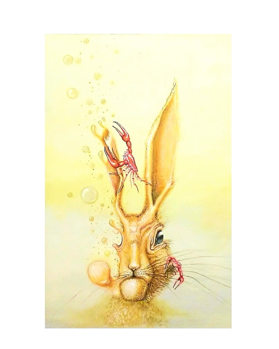 """Hare Hypnosis"" (http://ck1.bigcartel.com) . . . . . #newcontemporary #contemporarysurrealism #surrealism #painting #acrylicpainting #rabbit #hifructosemagazine #hifructose #juxtapoz #coreyhelfordgallery #thinkspacegallery #superchiefgallery #laart #nyart #galleryartpic.twitter.com/fMnbiC7Ttm"