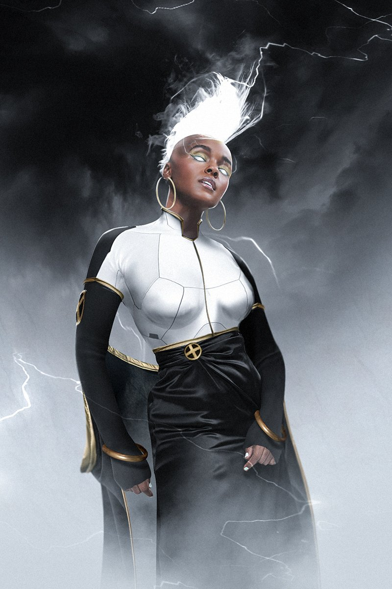 Decided to do a @JanelleMonae Storm before I called it a night @MarvelStudios 🙏❤️⚡