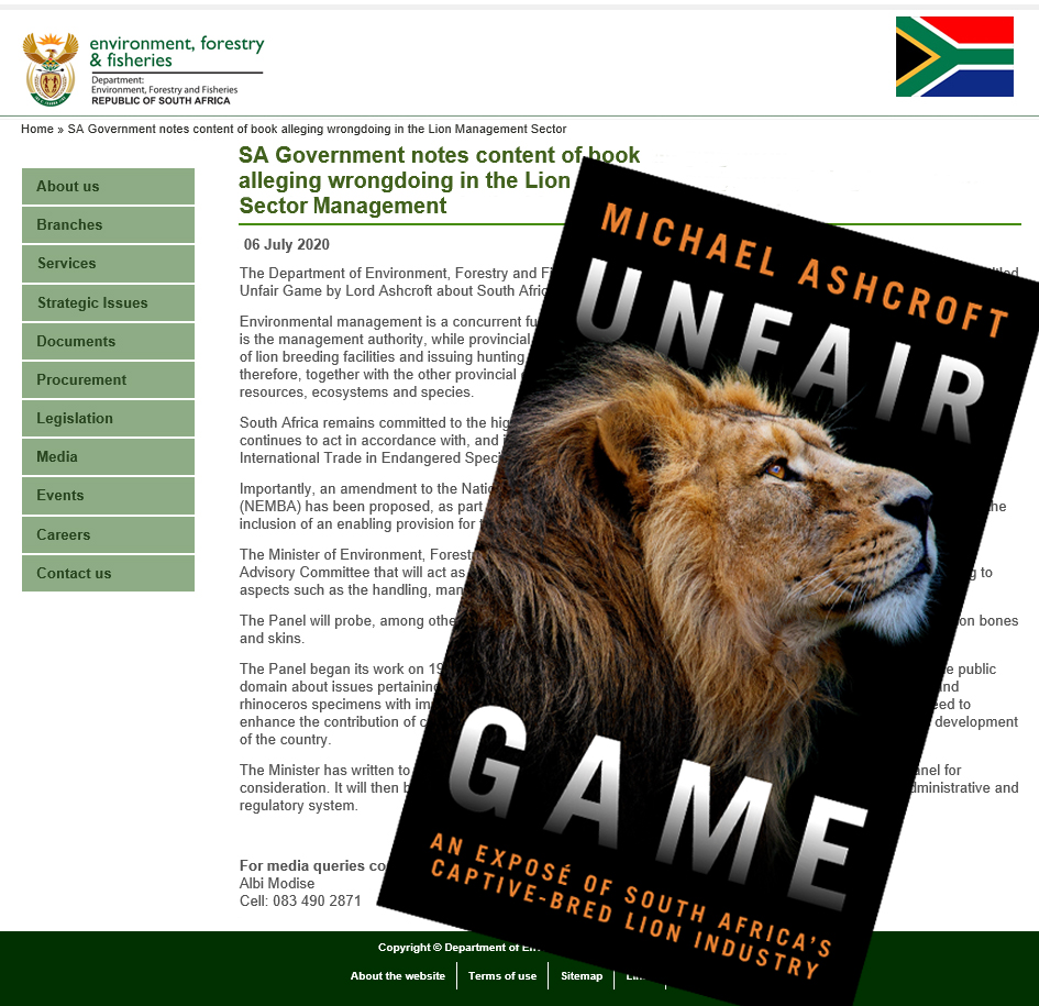My book #UnfairGame was sent to the High Level Panel and to @BarbaraCreecy_ last month. Nice to have this on the record.  👇🦁  https://t.co/EGAgdD9v8U https://t.co/mXdRnjyOzz