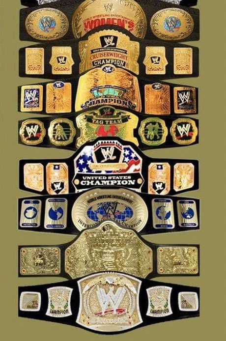 With the recent change to the US championship belt all the ruthless aggression belt designs are now officially gone 😪 end of an era. #WWE https://t.co/T4ZQmxHt1f