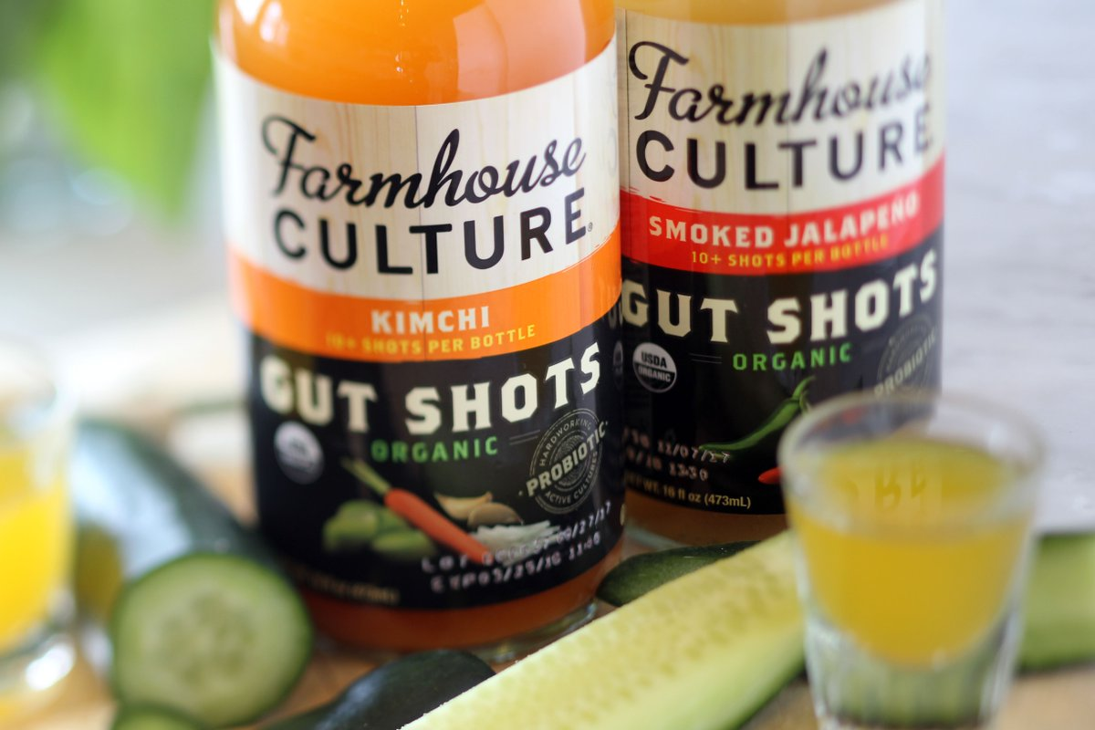FarmhouseCulture #GutShots are an awesome way to build your immunity. With ingredients like Garlic, Coriander, Cinnamon, Ginger + Chili Pepper, we can see why its named #GUTSHOT! Find them in our #grocery department or online at elmcitymarketdelivers.com.