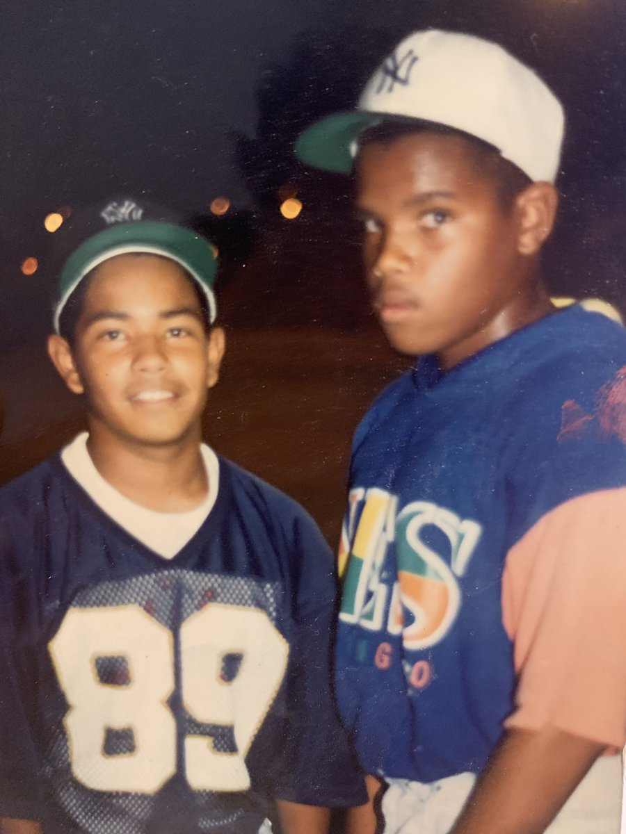 "Me and my dawg J-Bird at the tender age of 12. Basically a Michael and Scottie situation.  I thank God for His Mercy and Grace in both our lives.  ""Although we had it rough, we always had enough!"" #Brotherhood #FromTheHood https://t.co/60qhbZYvv8"