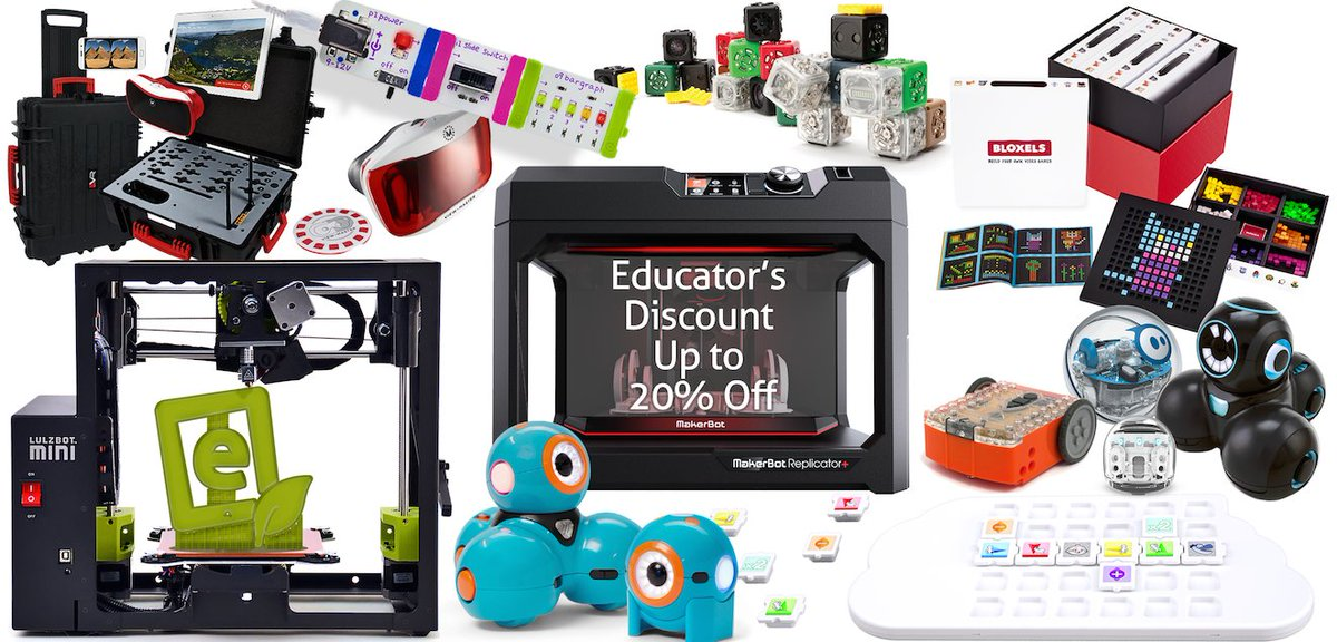 Buying #STEM and #makerspace tools can get expensive. We offer reduced pricing as much as we can through our Educator Discount program. Sign up: https://t.co/9Wb9FIVYD7 #edtech #teachertwitter https://t.co/x1Lrn5W2Ob