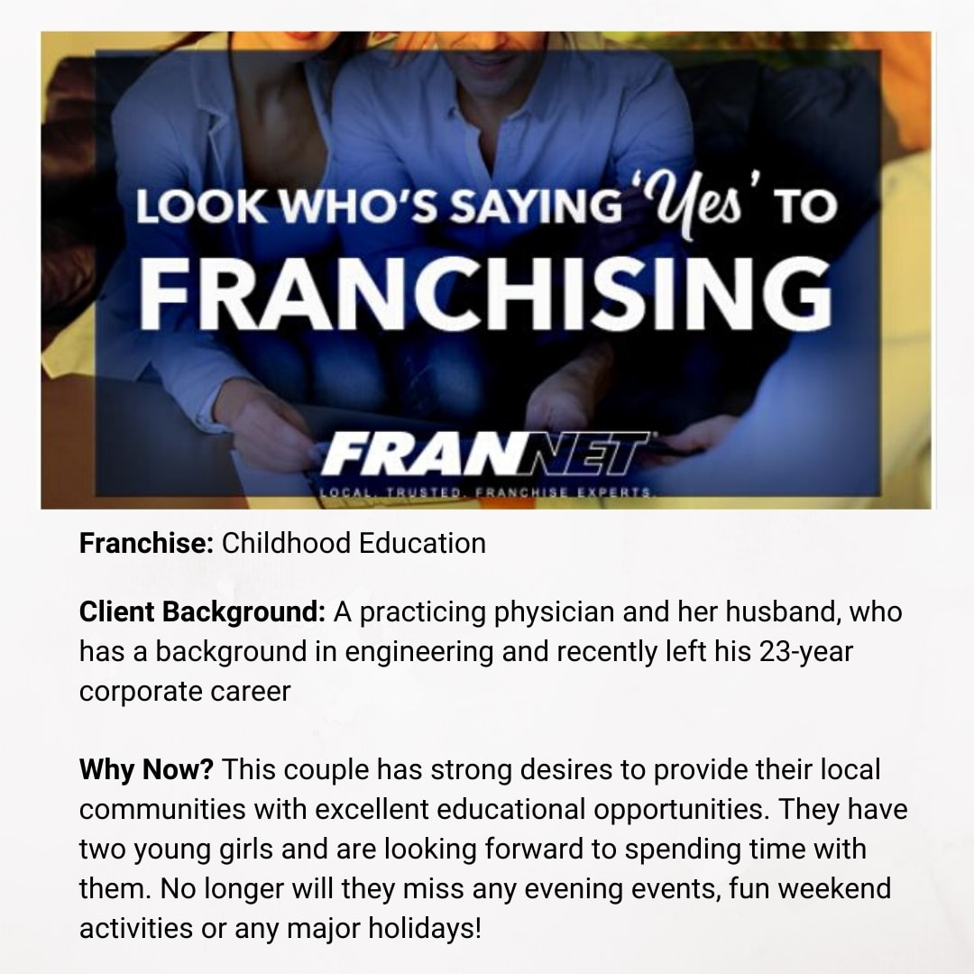 """Do you want to own a business that allows you the freedom to focus on your family? That's what motivated this couple to say """"yes"""" to franchising! Will you be next? #franchising #family #freedom https://t.co/Yq58FnJtMw"""