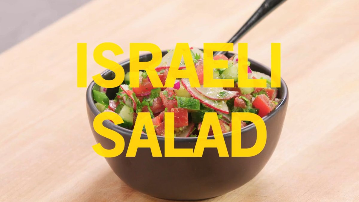 Image for the Tweet beginning: Israeli salad is a simple,