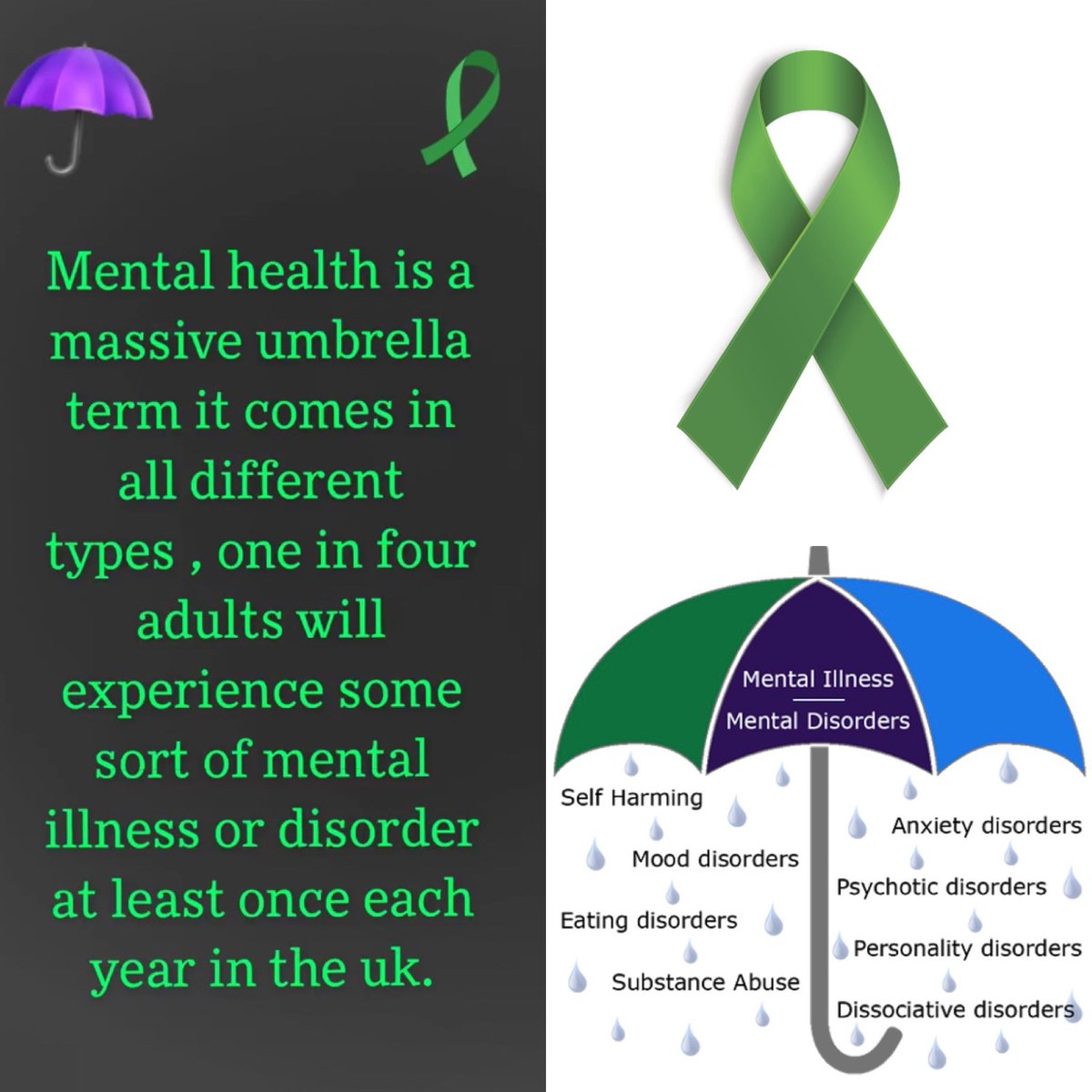 Mental health is a massive killer In the UK & Republic of Ireland, there were 6,859 suicides in 2018. #mentalhealthawareness #mentalhealthmatters #mentalillness #mentalhealthisimportant #mentalhealthproblems #greenribbon https://t.co/Smd7lt0IGo