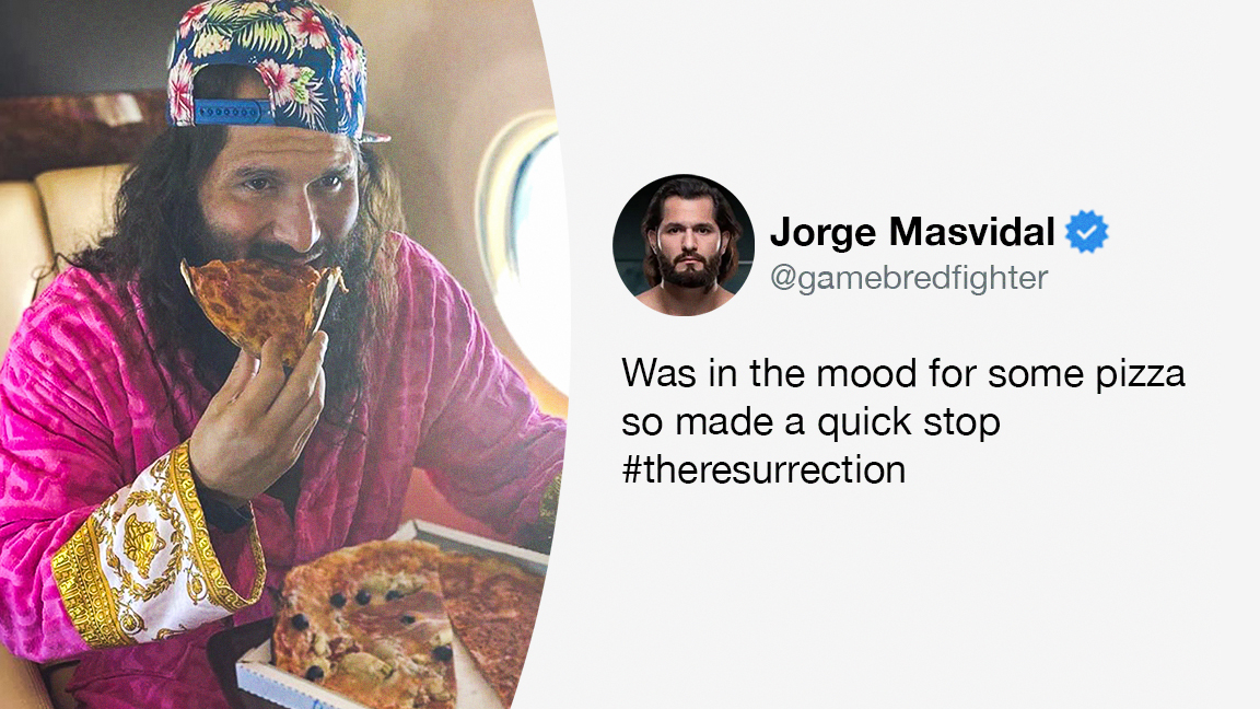 On his way to Fight Island, Jorge Masvidal stopped in Rome for some pizza 😂 #UFC251  (via @GamebredFighter) https://t.co/3D1ke5488c