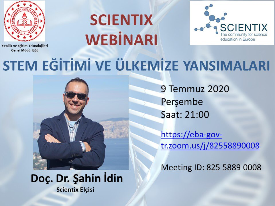 A webinar within the scope of #STEMeducation will be carried out, with Turkey Scientix Point. You're also invited :) #scientix @eu_schoolnet @scientix_eu @ScientixTurkeypic.twitter.com/kIfT8mLbAc