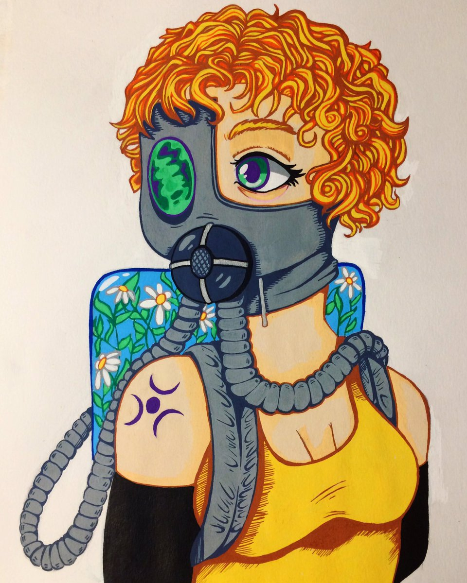 #myart #MyArtwork #posca #drawings #painting #anime #AnimeArt #gasmask https://t.co/6PKKrevYT4