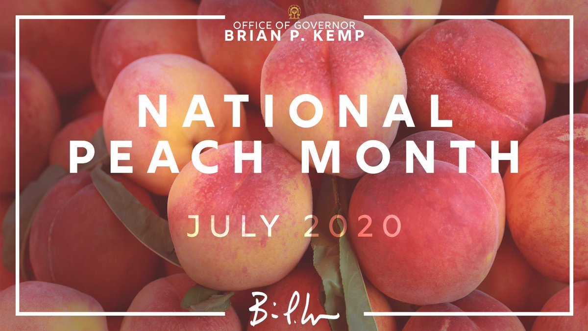 July is National Peach Month! I hope all Georgians will join me in celebrating with a delicious @GeorgiaGrown peach!