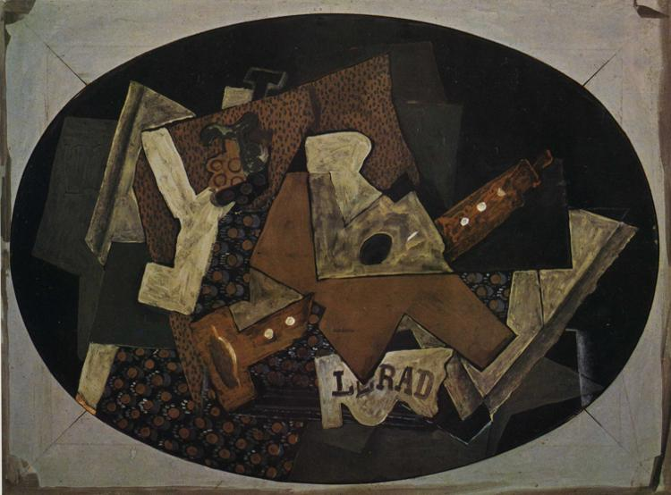 Clarinet, Guitar and Compotier, 1918 #braque #syntheticcubism <br>http://pic.twitter.com/GnD3W9IumH