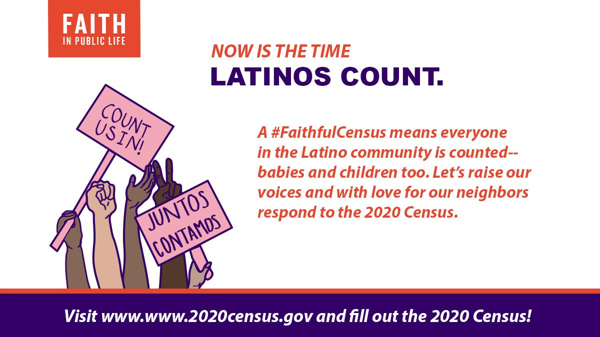"""Certain populations are often """"undercounted"""" — #Latinos, #renters, #immigrants, & others.   Very young #children are MOST LIKELY to be excluded from the count! Let's make sure to #CountAllKids born on or before April 1, 2020!   #FaithfulCensus #HagaseContar #LatinxsCount https://t.co/GDeWCUgEGl"""