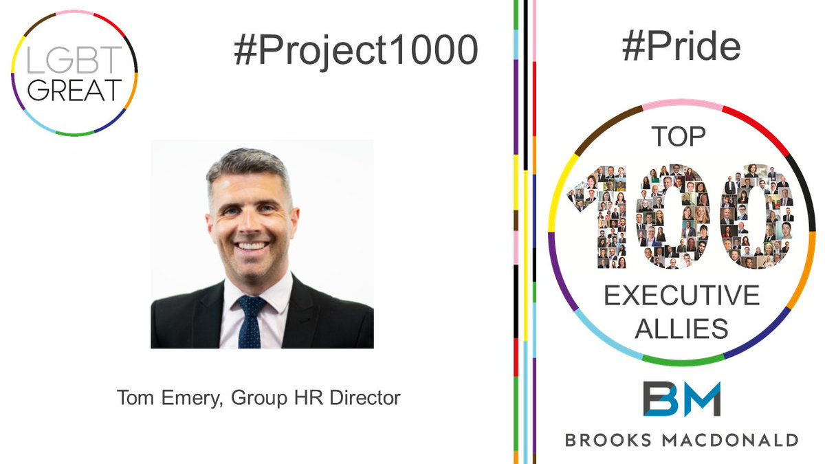 """We at Brooks Macdonald, are proud to support the LGBT+ community all year round and allyship is essential in creating a culture of inclusion for all"" - Tom Emery, Group HR Director @BrooksMacdonald #Project1000 #Pride #YouMeUsWe https://t.co/h4zmZbRJwZ https://t.co/BcKvR5Nmcr"