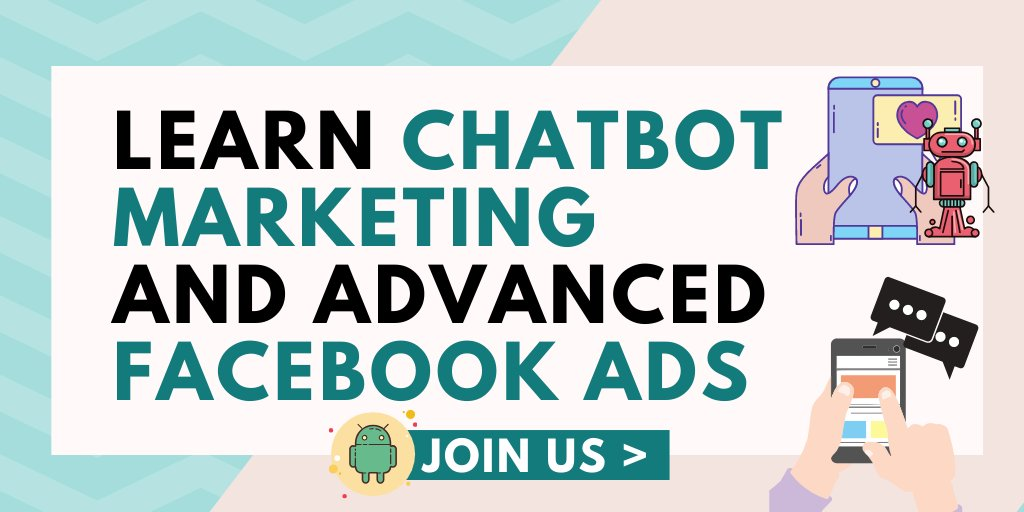 🤖Are you a marketer? Want to learn chatbots and Facebook ads? Thumbs up Join our Facebook group now -> facebook.com/groups/MobileM…