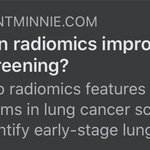 Image for the Tweet beginning: Two radiomics features on low-dose