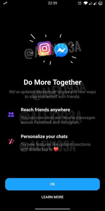 whatsapp messenger instagram chat