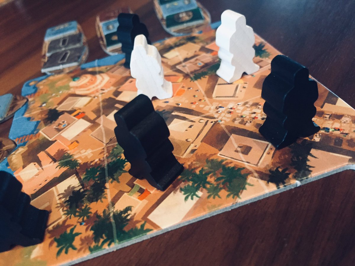 Couple of before dinner plays of Imhotep: The Duel. I like this game, but like the original better, but never get to play the original. #roughlife #boardgames https://t.co/KjgV5wNbhq