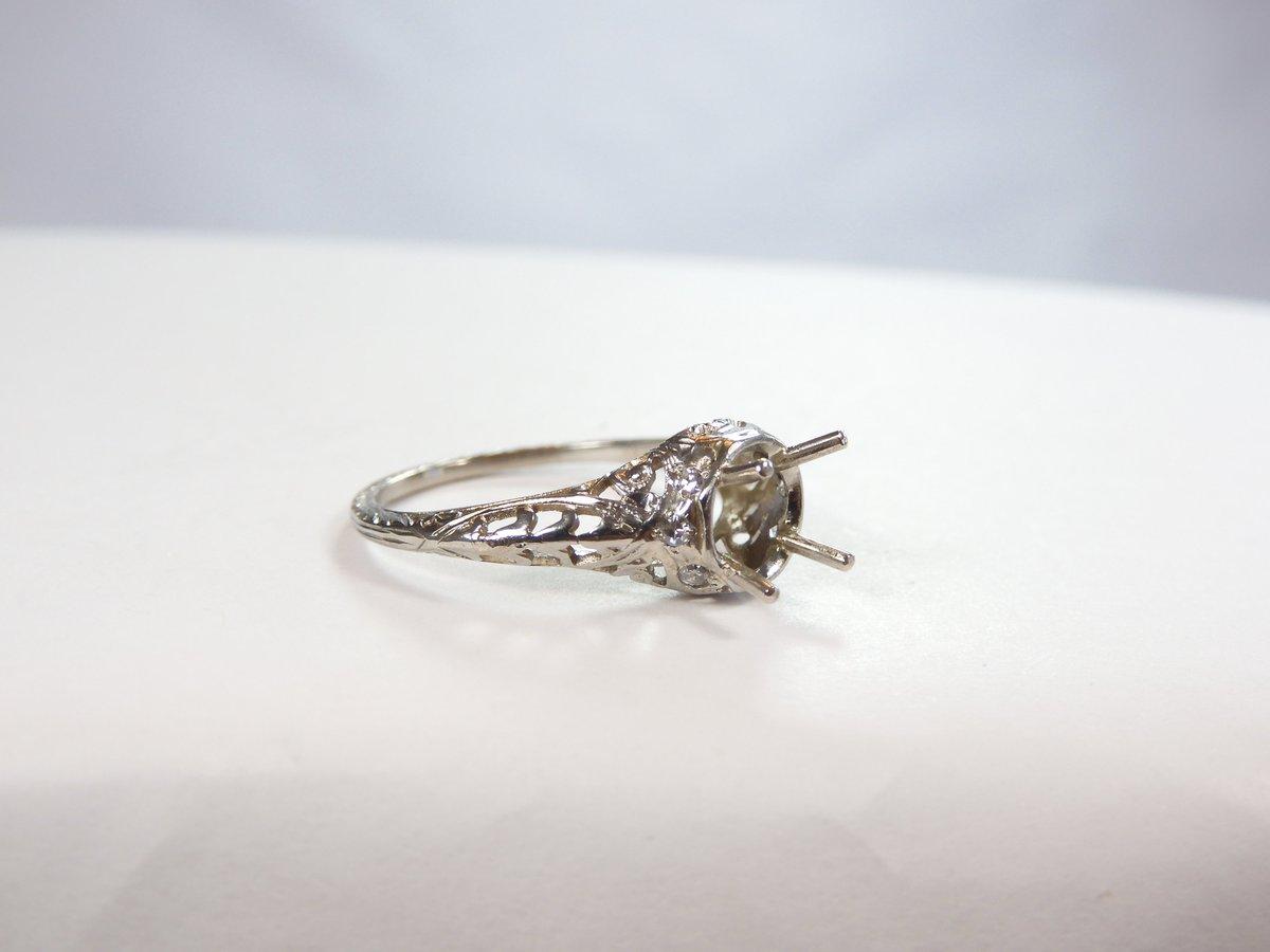 Check out Antique Art Deco Mounting Setting Hold 6.5-7MM 14K White Gold Ring Sz 7 UK-N1/2 #Antique https://ebay.us/QlLccU via @eBay #wedding #bride #brides #bridal #bridaljewelry #marryme #bridetobe #proposal #Fiancee #engagement #engagementsetting #engagementmounting #ringpic.twitter.com/sckJmAlo5P
