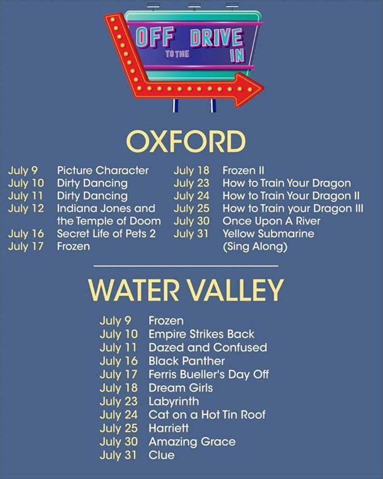 More movies coming up as part of the Oxford Film Festival's drive in, now in Water Valley, too! #movies #drivein #OFF #OxfordFilmFestival https://t.co/38Ws0bHr9r https://t.co/3Pzl1VkfGS