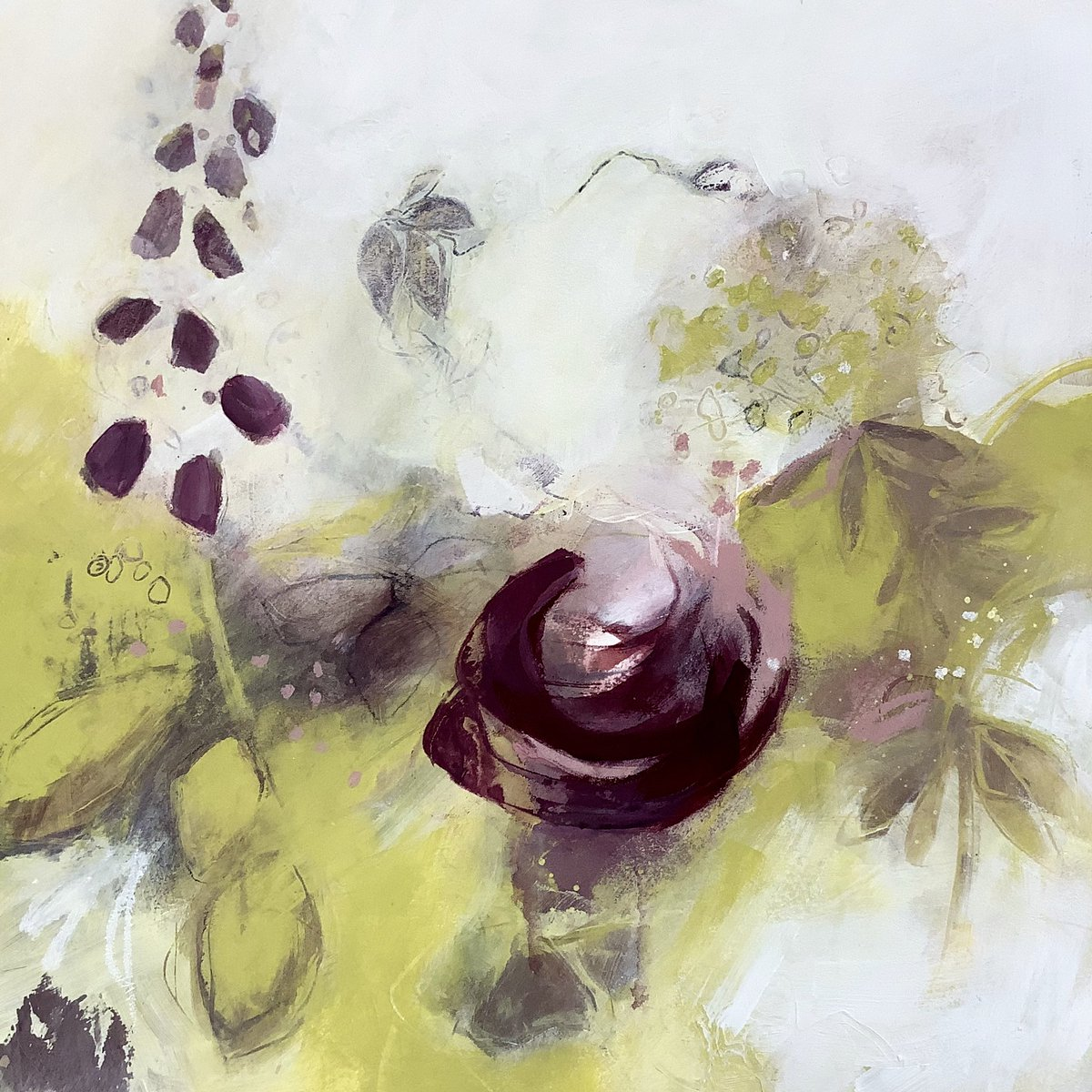 SOLD! This #abstractgarden painting will soon be on its way to its forever home in Manchester. More available on my website & more to follow soon. https://www.marifrench.com/gallery.html  #abstractartist #abstractflowers #loveyourgarden #artinlockdown #artforlife #summergarden #gardenabstractpic.twitter.com/o3edc5s7fR
