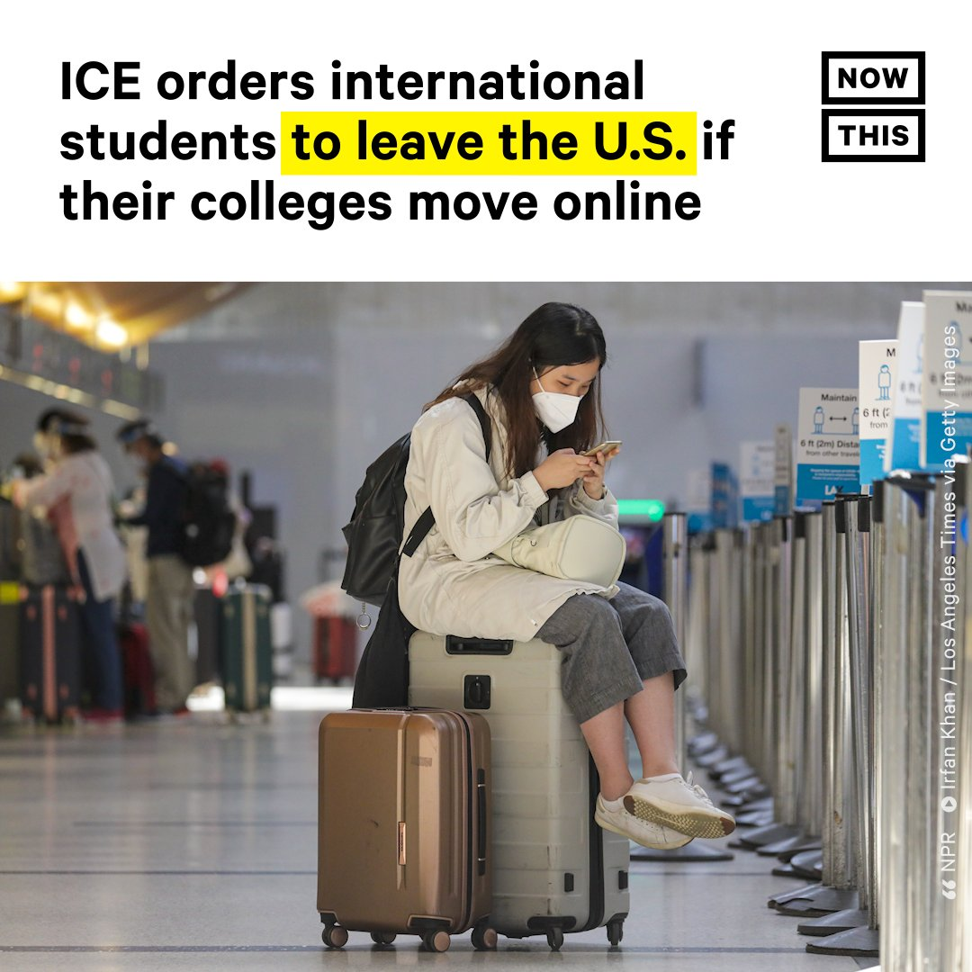 On Monday, U.S. Immigration and Customs Enforcement announced that international students studying at colleges in the U.S. cannot stay in the country if their schools move courses completely online in the fall. https://t.co/gcvh4VF3Rz