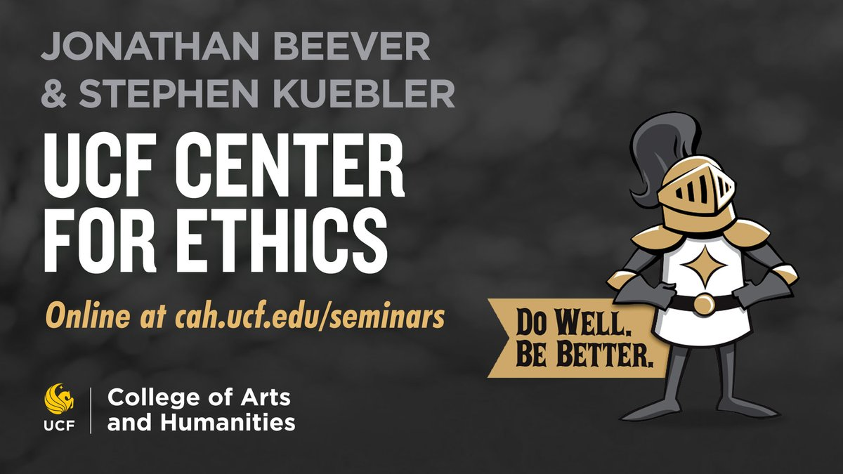 Ever heard of the trolley problem? Thinking about your ethical values? Join the co-founders of the UCF Center for Ethics for a discussion this Thursday at 1pm 💡   Register here: https://t.co/jmKFMai1kS https://t.co/u1hUaSt1T4