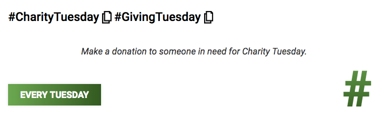 #GivingTuesday - Make a donation to someone in need for #CharityTuesday. #smm<br>http://pic.twitter.com/WhOwUVmYGn