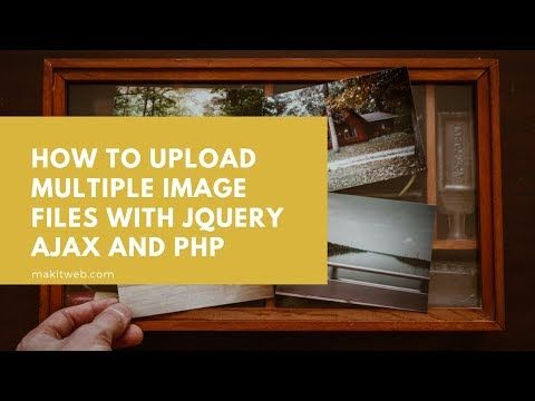 How to upload Multiple Image files with jQuery AJAX and #PHP  https:// buff.ly/31ZFLb4     <br>http://pic.twitter.com/7e6k5HsRSq