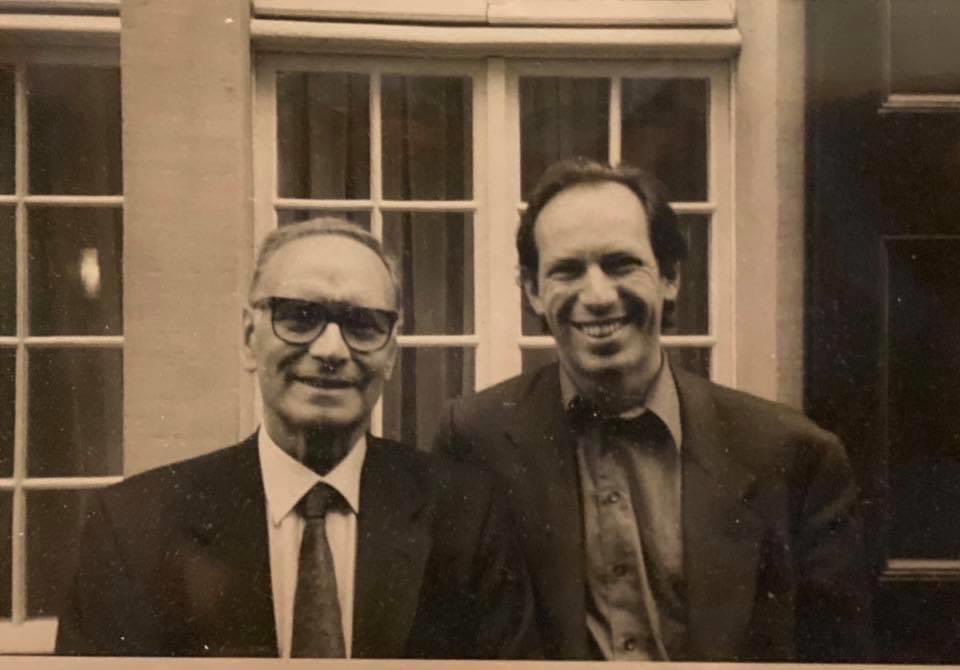A long, long time ago... two chaps on their way to the Beethoven Haus. Ennio spent the afternoon singing the Beethoven scores to me. Great Day! https://t.co/y78CcUyAYq