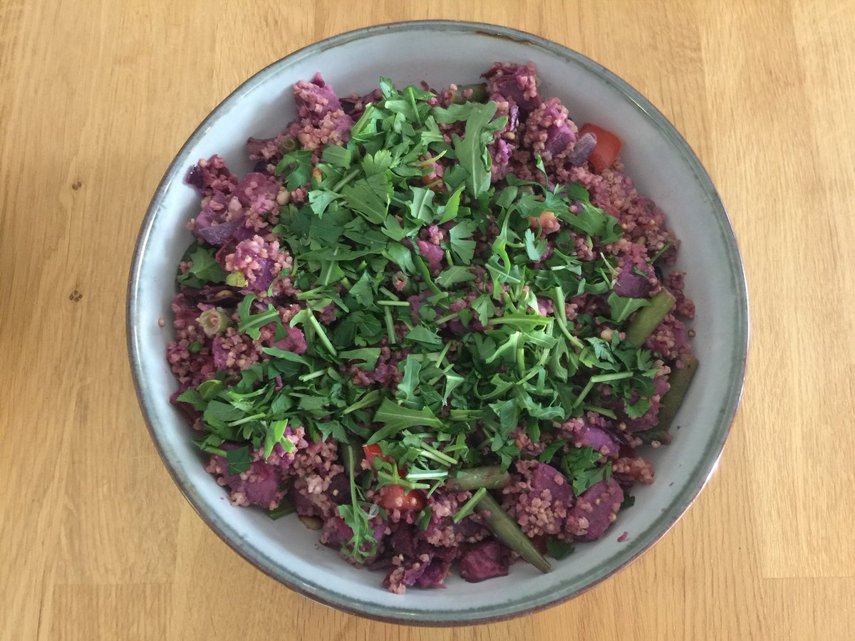 Add some nutrients - and color - to your salad with this purple potato and millet salad from Food for Health. https://t.co/zwerpUAmEz https://t.co/9mY6TVJHKC