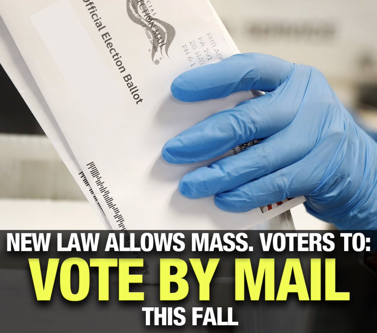Attention Massachusetts voters! 🗳️ You can now vote by mail in 2020 elections without any excuse. Details on how it will work --> boston25.com/3gv2pOS #VoteByMail2020