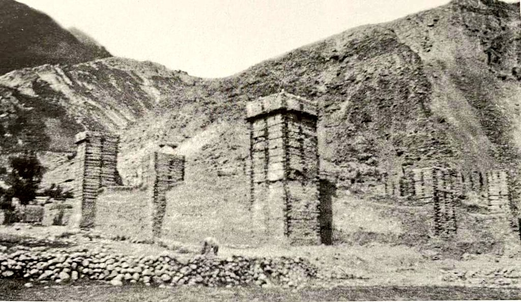 Pictured is a fort in Gulmit Gojal (Hunza). According to Dr. Hermann Krotsmans book, this picture of the castle was taken in August 1888 by a man named Brunis La #Gromchowski, three years before the fall of Hunza. #History @odysseuslahori @IndiaHistorypic #GilgitBaltistan